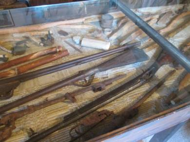 Fucili nel museo di Gallicanò