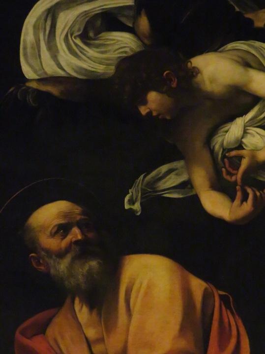 dettaglio San Matteo e l'angelo