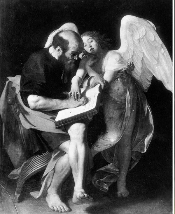 Prima versione San Matteo e l'angelo